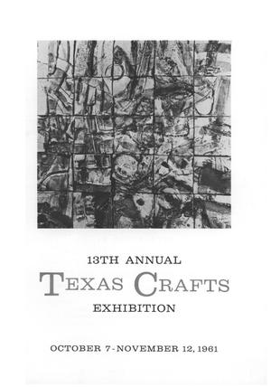 Primary view of object titled '13th Annual Texas Crafts Exhibition'.