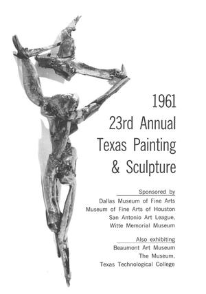 Primary view of object titled '23rd Annual Painting & Sculpture, 1961'.