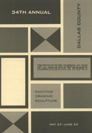 Primary view of object titled '34th Annual Dallas County Exhibition: Painting, Drawing, Sculpture'.