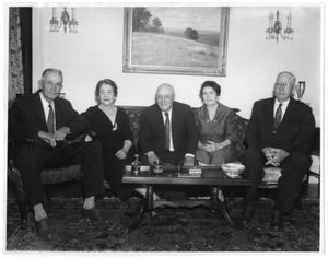 Primary view of object titled 'Photograph of Sam Rayburn With Four Siblings'.