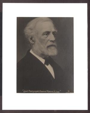 Primary view of object titled 'Photograph of Robert E. Lee'.