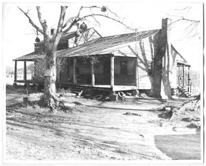 Primary view of object titled 'Photograph of Sam Rayburn's Grandparents' Home in Tennessee'.