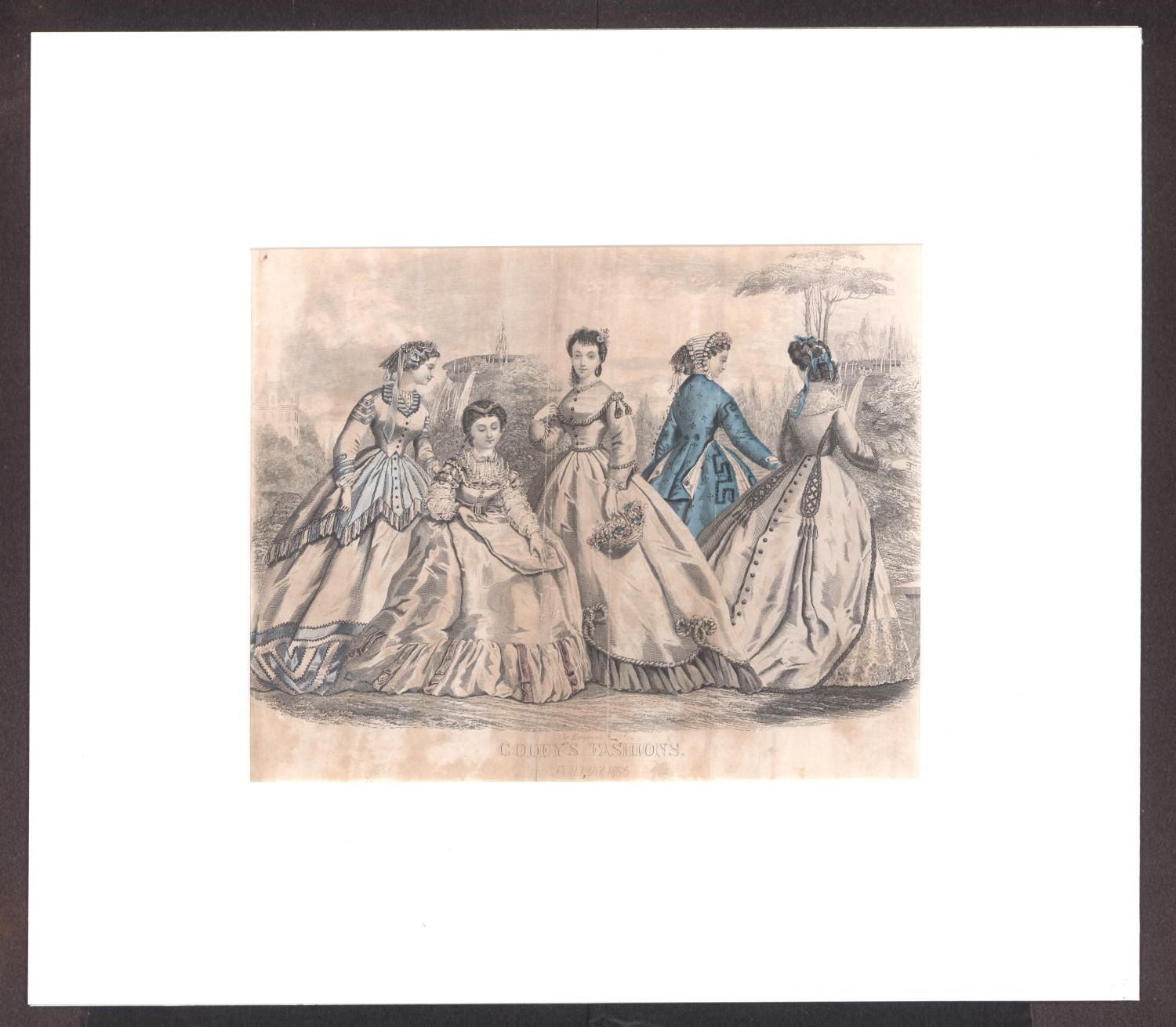 Godey's Fashions for May 1865                                                                                                      [Sequence #]: 1 of 2