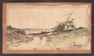 Watercolor Painting of an Oceanside scene