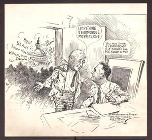 Primary view of object titled 'Political Cartoon of Sam Rayburn by C.K. Berryman'.