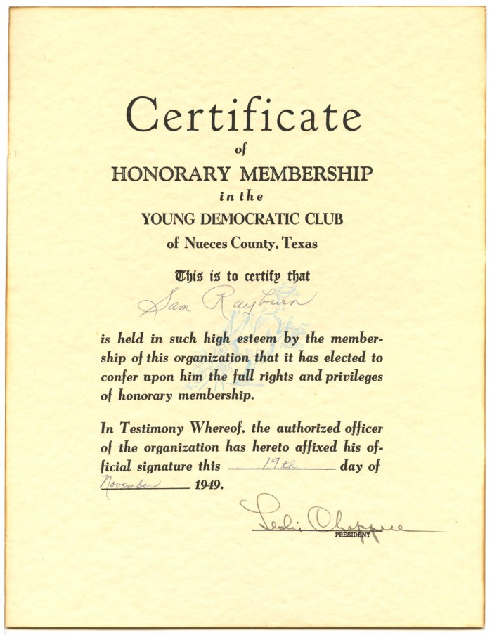 Certificate of honorary membership in the young democratic for Honorary member certificate template