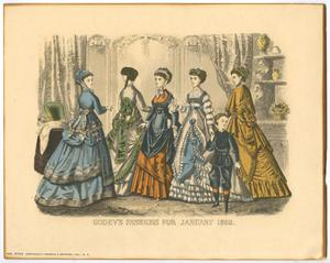 Primary view of object titled 'Godey's Fashions for January 1869'.