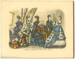 Primary view of object titled 'Godey's Fashions for April 1870'.