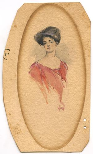 Primary view of object titled 'Print of Woman'.