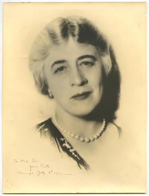 Primary view of object titled 'Photograph of Ruth Bryan Owen'.