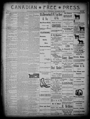 Canadian Free Press. (Canadian, Tex.), Vol. 1, No. 18, Ed. 1 Wednesday, December 21, 1887