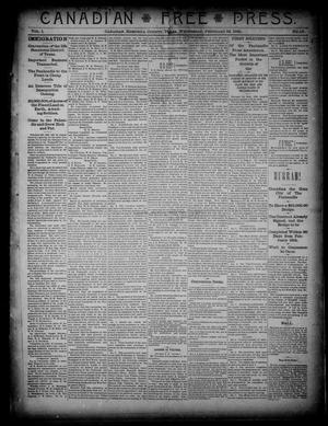 Primary view of object titled 'Canadian Free Press. (Canadian, Tex.), Vol. 1, No. 27, Ed. 1 Wednesday, February 22, 1888'.