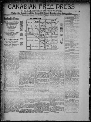 Canadian Free Press. (Canadian, Tex.), Vol. 1, No. 35, Ed. 1 Wednesday, April 11, 1888