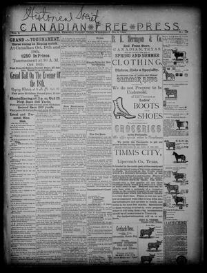 Primary view of Canadian Free Press. (Canadian, Tex.), Vol. 2, No. 10, Ed. 1 Wednesday, October 3, 1888