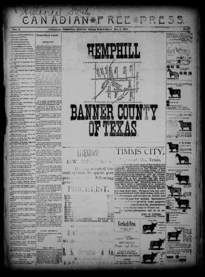 Canadian Free Press. (Canadian, Tex.), Vol. 2, No. 19, Ed. 1 Wednesday, December 5, 1888