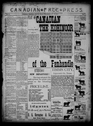 Canadian Free Press. (Canadian, Tex.), Vol. 2, No. 21, Ed. 1 Wednesday, December 19, 1888