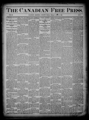 The Canadian Free Press. (Canadian, Tex.), Vol. 3, No. 3, Ed. 1 Friday, August 16, 1889