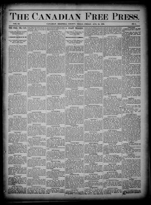 The Canadian Free Press. (Canadian, Tex.), Vol. 3, No. 4, Ed. 1 Friday, August 23, 1889