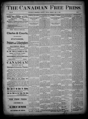 Primary view of object titled 'The Canadian Free Press. (Canadian, Tex.), Vol. 3, No. 6, Ed. 1 Friday, September 6, 1889'.
