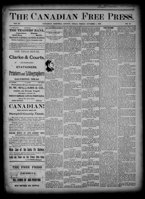 Primary view of object titled 'The Canadian Free Press. (Canadian, Tex.), Vol. 3, No. 10, Ed. 1 Friday, October 4, 1889'.