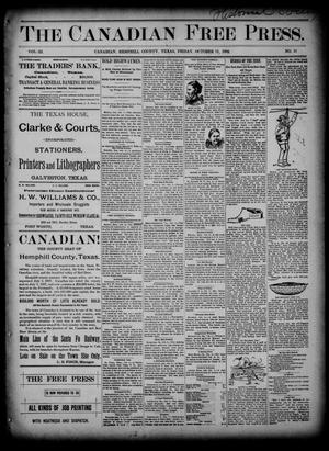 The Canadian Free Press. (Canadian, Tex.), Vol. 3, No. 11, Ed. 1 Friday, October 11, 1889