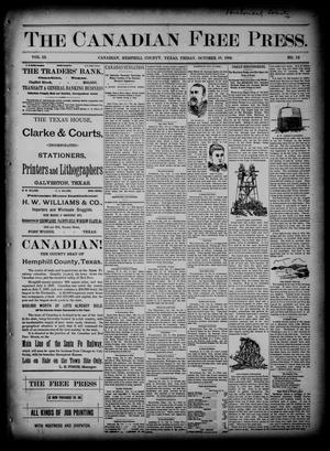 Primary view of object titled 'The Canadian Free Press. (Canadian, Tex.), Vol. 3, No. 12, Ed. 1 Friday, October 18, 1889'.