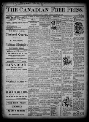 Primary view of object titled 'The Canadian Free Press. (Canadian, Tex.), Vol. 3, No. 13, Ed. 1 Friday, October 25, 1889'.