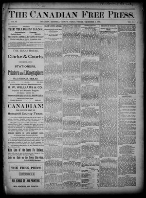 The Canadian Free Press. (Canadian, Tex.), Vol. 3, No. 19, Ed. 1 Friday, December 6, 1889