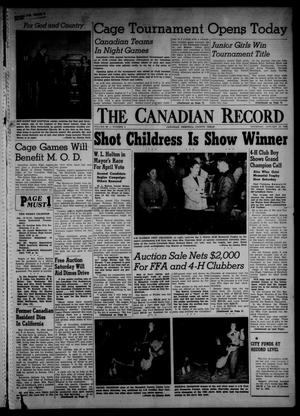 Primary view of object titled 'The Canadian Record (Canadian, Tex.), Vol. 66, No. 2, Ed. 1 Thursday, January 13, 1955'.