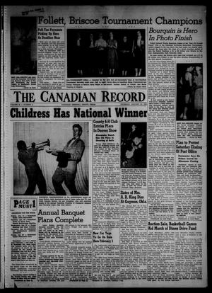 Primary view of object titled 'The Canadian Record (Canadian, Tex.), Vol. 66, No. 3, Ed. 1 Thursday, January 20, 1955'.