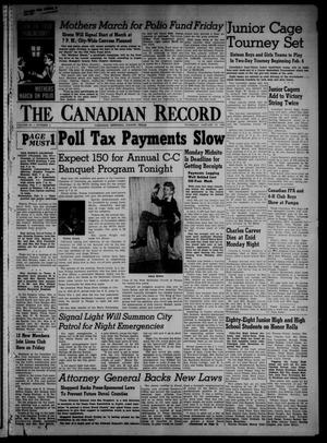 Primary view of object titled 'The Canadian Record (Canadian, Tex.), Vol. 66, No. 4, Ed. 1 Thursday, January 27, 1955'.