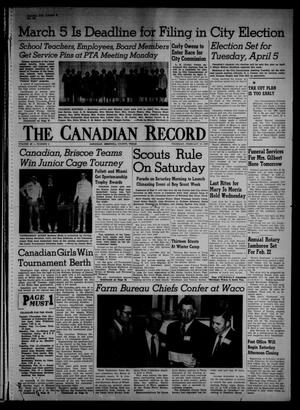 Primary view of object titled 'The Canadian Record (Canadian, Tex.), Vol. 66, No. 6, Ed. 1 Thursday, February 10, 1955'.