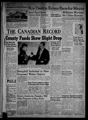 Primary view of object titled 'The Canadian Record (Canadian, Tex.), Vol. 66, No. 7, Ed. 1 Thursday, February 17, 1955'.