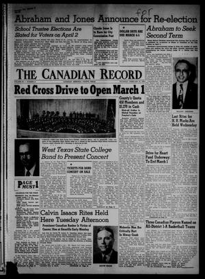 Primary view of object titled 'The Canadian Record (Canadian, Tex.), Vol. 66, No. 8, Ed. 1 Thursday, February 24, 1955'.