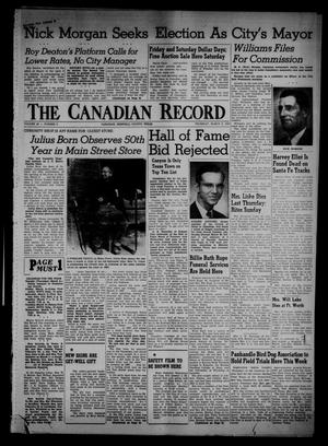 Primary view of object titled 'The Canadian Record (Canadian, Tex.), Vol. 66, No. 9, Ed. 1 Thursday, March 3, 1955'.