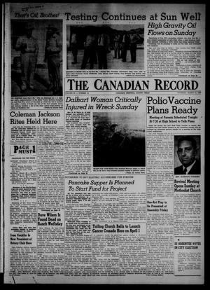 Primary view of object titled 'The Canadian Record (Canadian, Tex.), Vol. 66, No. 12, Ed. 1 Thursday, March 24, 1955'.