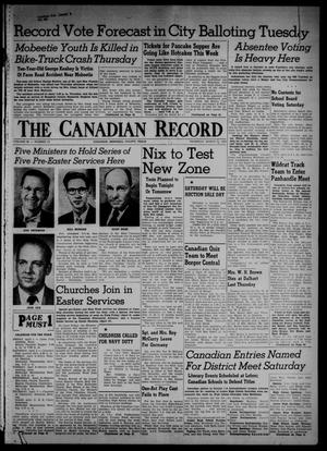 The Canadian Record (Canadian, Tex.), Vol. 66, No. 13, Ed. 1 Thursday, March 31, 1955