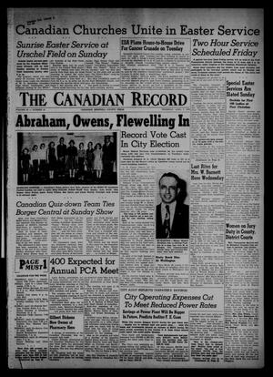 Primary view of object titled 'The Canadian Record (Canadian, Tex.), Vol. 66, No. 14, Ed. 1 Thursday, April 7, 1955'.