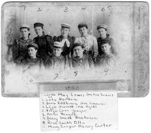 Primary view of object titled '[Female Students, 1893]'.