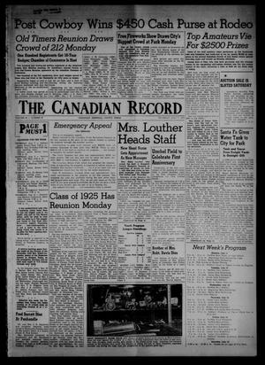 Primary view of object titled 'The Canadian Record (Canadian, Tex.), Vol. 66, No. 27, Ed. 1 Thursday, July 7, 1955'.