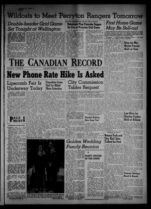 Primary view of object titled 'The Canadian Record (Canadian, Tex.), Vol. 66, No. 37, Ed. 1 Thursday, September 15, 1955'.