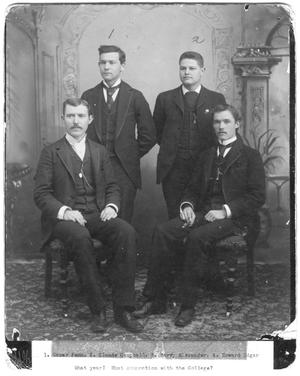 Primary view of object titled '[Four male students, c. 1890]'.