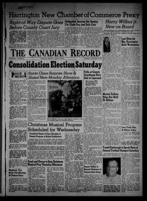 Primary view of object titled 'The Canadian Record (Canadian, Tex.), Vol. 66, No. 50, Ed. 1 Thursday, December 15, 1955'.