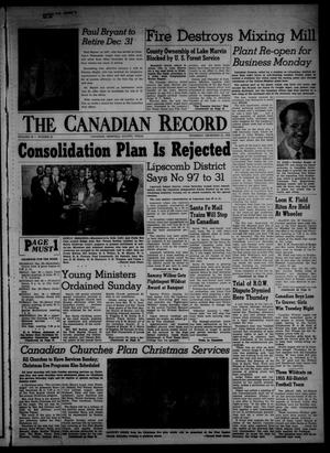 Primary view of object titled 'The Canadian Record (Canadian, Tex.), Vol. 66, No. 51, Ed. 1 Thursday, December 22, 1955'.
