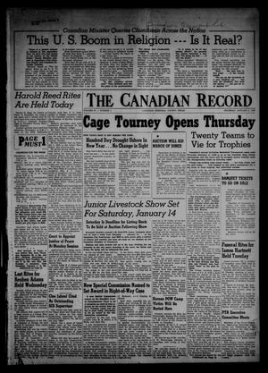 Primary view of object titled 'The Canadian Record (Canadian, Tex.), Vol. 67, No. 1, Ed. 1 Thursday, January 5, 1956'.