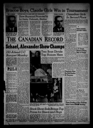 Primary view of object titled 'The Canadian Record (Canadian, Tex.), Vol. 67, No. 3, Ed. 1 Thursday, January 19, 1956'.