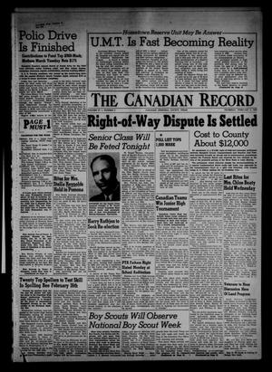 Primary view of object titled 'The Canadian Record (Canadian, Tex.), Vol. 67, No. 5, Ed. 1 Thursday, February 2, 1956'.