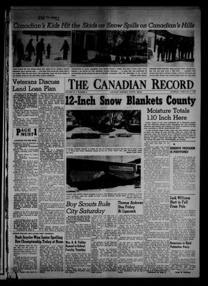 Primary view of object titled 'The Canadian Record (Canadian, Tex.), Vol. 67, No. 6, Ed. 1 Thursday, February 9, 1956'.