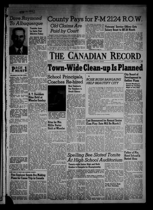 Primary view of object titled 'The Canadian Record (Canadian, Tex.), Vol. 67, No. 7, Ed. 1 Thursday, February 16, 1956'.