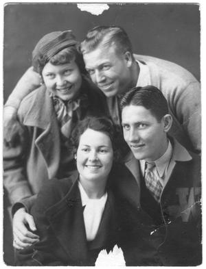 [Four students, Weatherford College, Class of 1935]